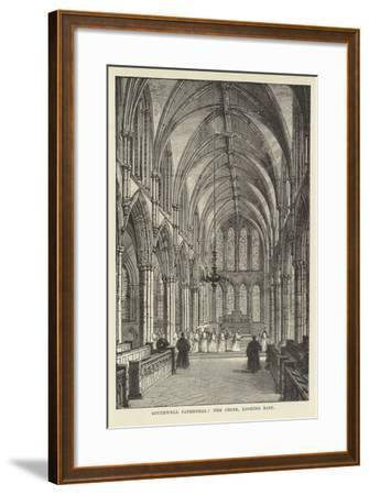 Southwell Cathedral, the Choir, Looking East--Framed Giclee Print