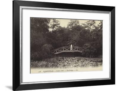 Hampstead, Golders Hill, the Bridge--Framed Photographic Print