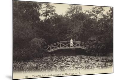 Hampstead, Golders Hill, the Bridge--Mounted Photographic Print