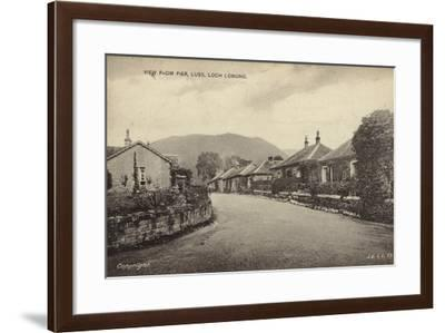 View from Pier, Luss, Loch Lomond--Framed Photographic Print