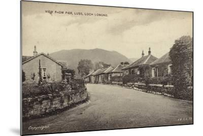 View from Pier, Luss, Loch Lomond--Mounted Photographic Print