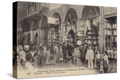 Bazaar, Damascus, Syria--Stretched Canvas Print
