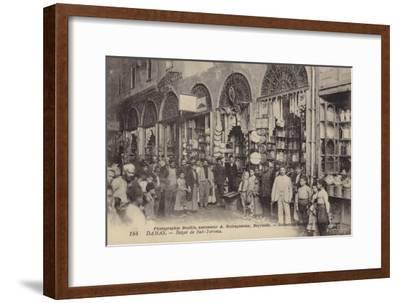 Bazaar, Damascus, Syria--Framed Photographic Print