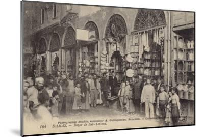 Bazaar, Damascus, Syria--Mounted Photographic Print