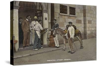 Street Vendors, Gibraltar--Stretched Canvas Print