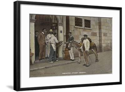 Street Vendors, Gibraltar--Framed Photographic Print