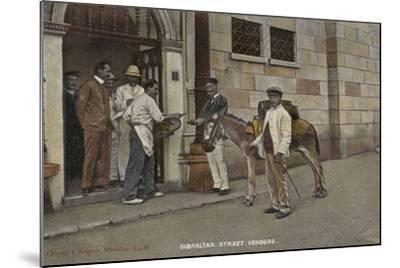 Street Vendors, Gibraltar--Mounted Photographic Print