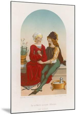 A Man and Woman Sitting Together--Mounted Giclee Print