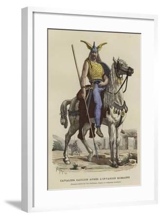 Gaulish Cavalryman after the Roman Invasion--Framed Giclee Print
