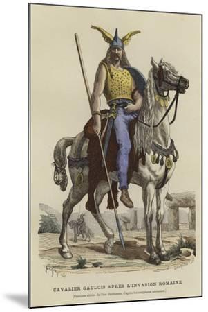 Gaulish Cavalryman after the Roman Invasion--Mounted Giclee Print