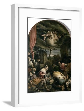 Adoration of Shepherds-Jacopo Bassano-Framed Giclee Print