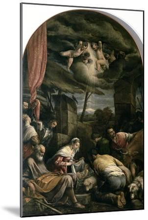Adoration of Shepherds-Jacopo Bassano-Mounted Giclee Print