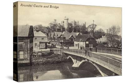 Arundel Castle and Bridge--Stretched Canvas Print