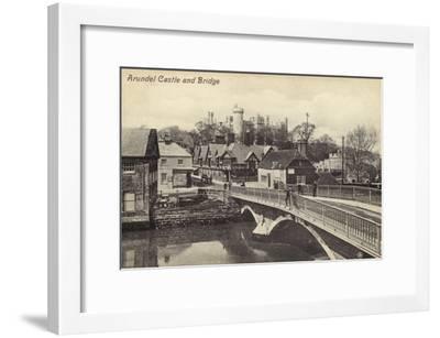 Arundel Castle and Bridge--Framed Photographic Print