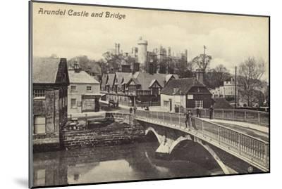Arundel Castle and Bridge--Mounted Photographic Print