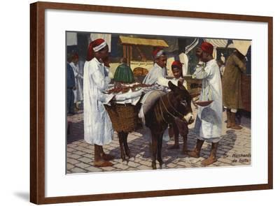 Fruit Seller, Tangier--Framed Photographic Print