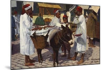 Fruit Seller, Tangier--Mounted Photographic Print