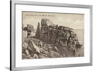 The Tooth Rock, St Mary'S, Scilly Isles--Framed Photographic Print