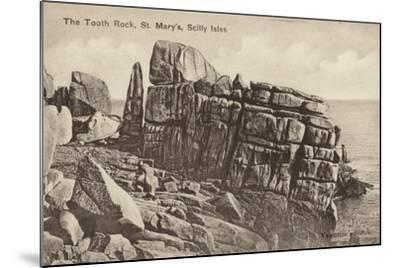 The Tooth Rock, St Mary'S, Scilly Isles--Mounted Photographic Print