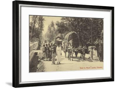 Road to Mount Lavania in Colombo--Framed Photographic Print