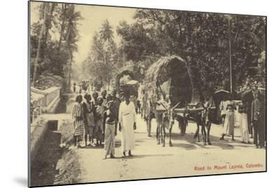 Road to Mount Lavania in Colombo--Mounted Photographic Print