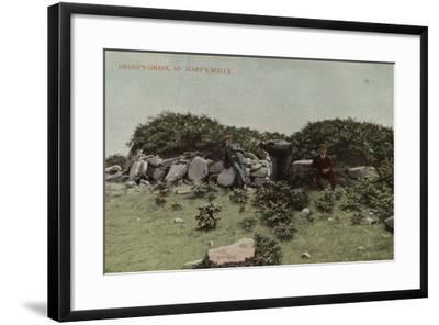 Druid's Grave, St Mary's Scilly--Framed Photographic Print