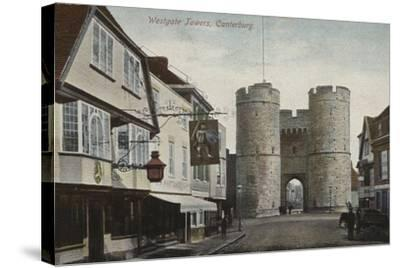 Westgate Towers, Canterbury, Kent--Stretched Canvas Print