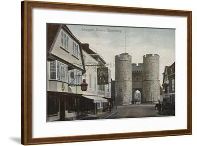 Westgate Towers, Canterbury, Kent--Framed Photographic Print