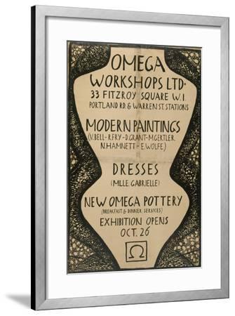 Graphic Advert for the Omega Workshops, 1920--Framed Giclee Print
