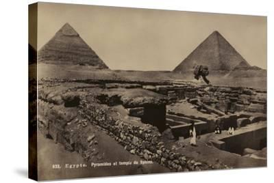 Pyramids and Temple of the Sphinx, Giza, Egypt--Stretched Canvas Print
