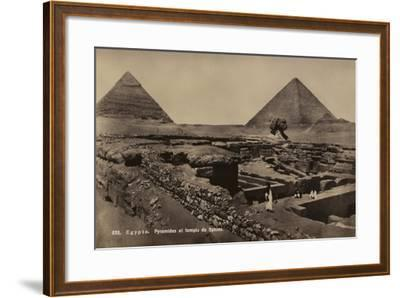 Pyramids and Temple of the Sphinx, Giza, Egypt--Framed Photographic Print
