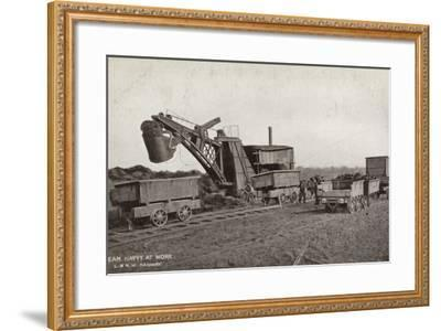 Steam Navvy at Work--Framed Photographic Print