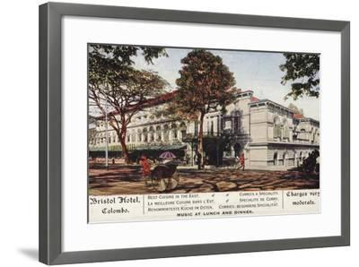 Bristol Hotel in Colombo--Framed Photographic Print
