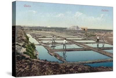 Salt Ponds, Cadiz, Spain--Stretched Canvas Print