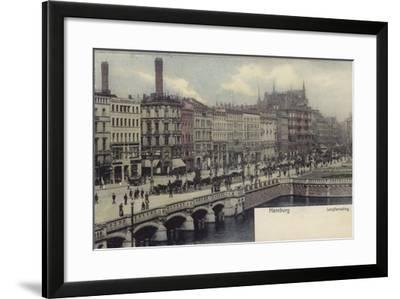 Postcard Depicting a General View of Hamburg--Framed Photographic Print