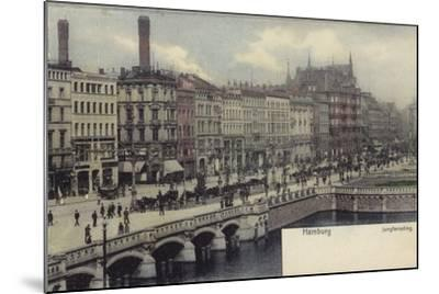 Postcard Depicting a General View of Hamburg--Mounted Photographic Print