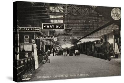 Birmingham Express at Rugby Platform--Stretched Canvas Print