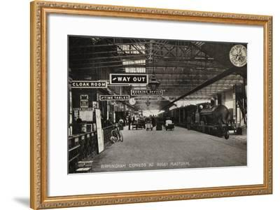 Birmingham Express at Rugby Platform--Framed Photographic Print