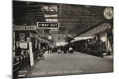 Birmingham Express at Rugby Platform--Mounted Photographic Print