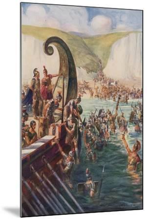 The Landing of the Romans in Britain, 54 Bc-Joseph Ratcliffe Skelton-Mounted Giclee Print