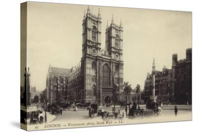 London - Westmister Abbey--Stretched Canvas Print