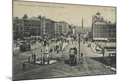 O'Connell Bridge and Sackville Street, Dublin--Mounted Photographic Print