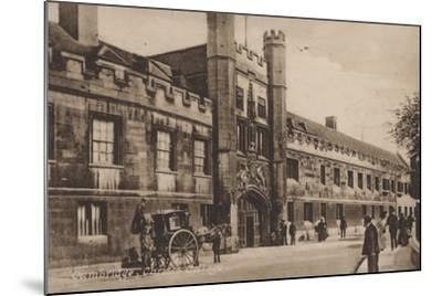 Christs College, Cambridge--Mounted Photographic Print