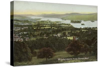 Windermere from Orrest Head, Lake District--Stretched Canvas Print