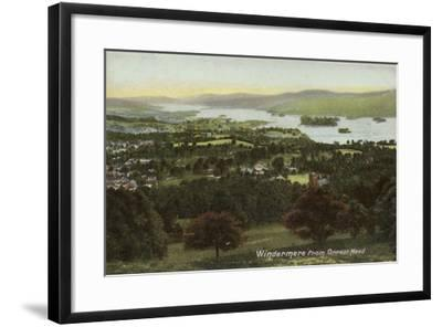 Windermere from Orrest Head, Lake District--Framed Photographic Print