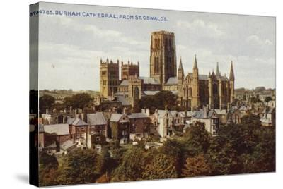 Durham Cathedral, from St Oswald'S--Stretched Canvas Print