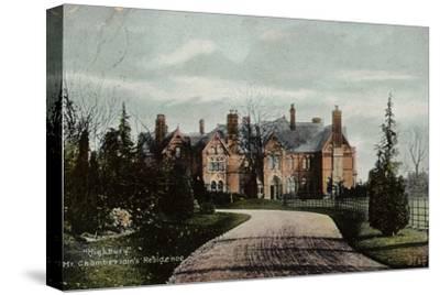 Highbury, Mr Chamberlain's Residence--Stretched Canvas Print