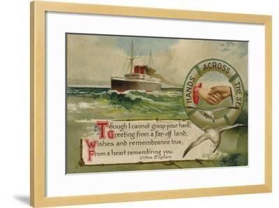 Hands across the Sea--Framed Giclee Print