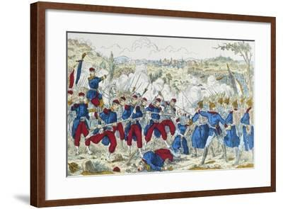 Battle of Borny-Colombey, at Metz, Between Prussians and French, August 14, 1870--Framed Giclee Print