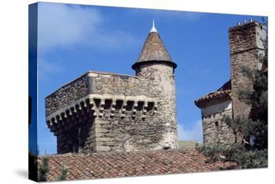 Keep of Lespinasse Castle, Near Saint-Beauzire, Auvergne, Detail, France--Stretched Canvas Print